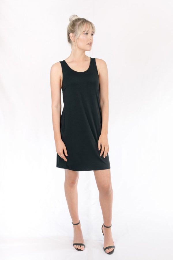 Bamboo_Short_Dress_Black_Venus001