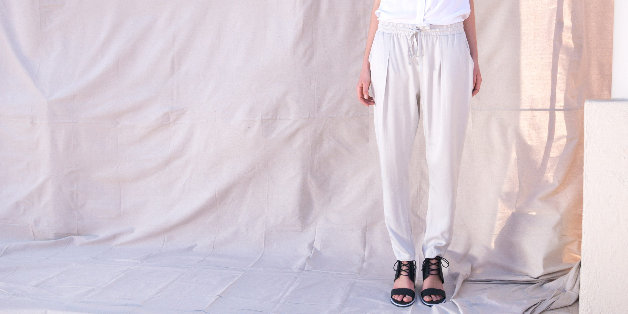 Bamboo Material Eco Friendly Fashion Pant Pants Trouser Stone