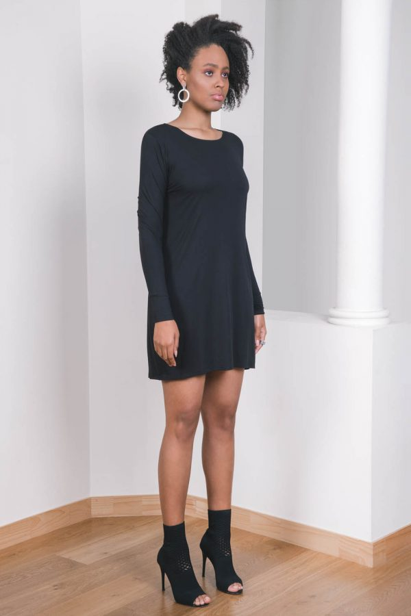 The_Great_Beyond_Bamboo_Dress_Europa_Black01