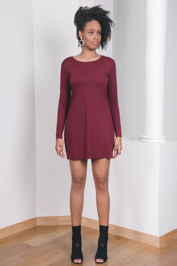 The_Great_Beyond_Bamboo_Dress_Europa_Cherry01