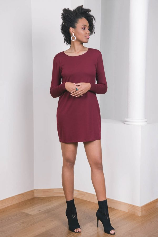 The_Great_Beyond_Bamboo_Dress_Europa_Cherry03