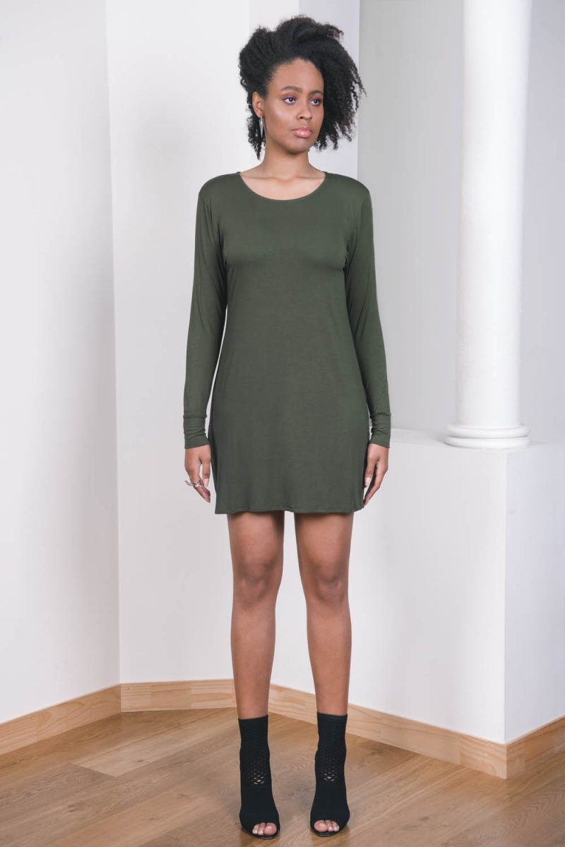 The_Great_Beyond_Bamboo_Dress_Europa_Olive01
