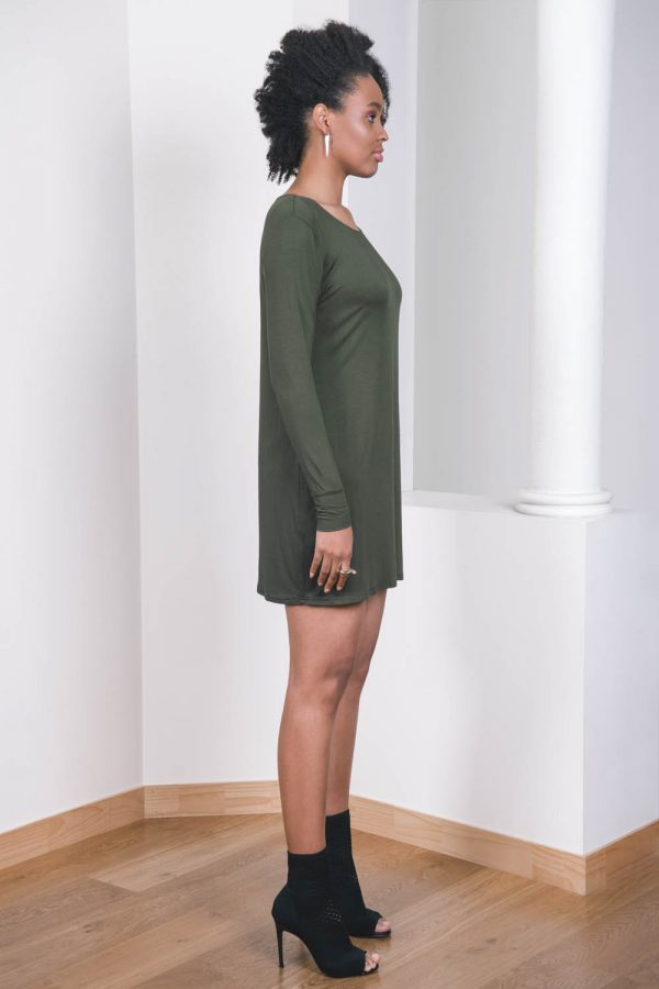 The_Great_Beyond_Bamboo_Dress_Europa_Olive02