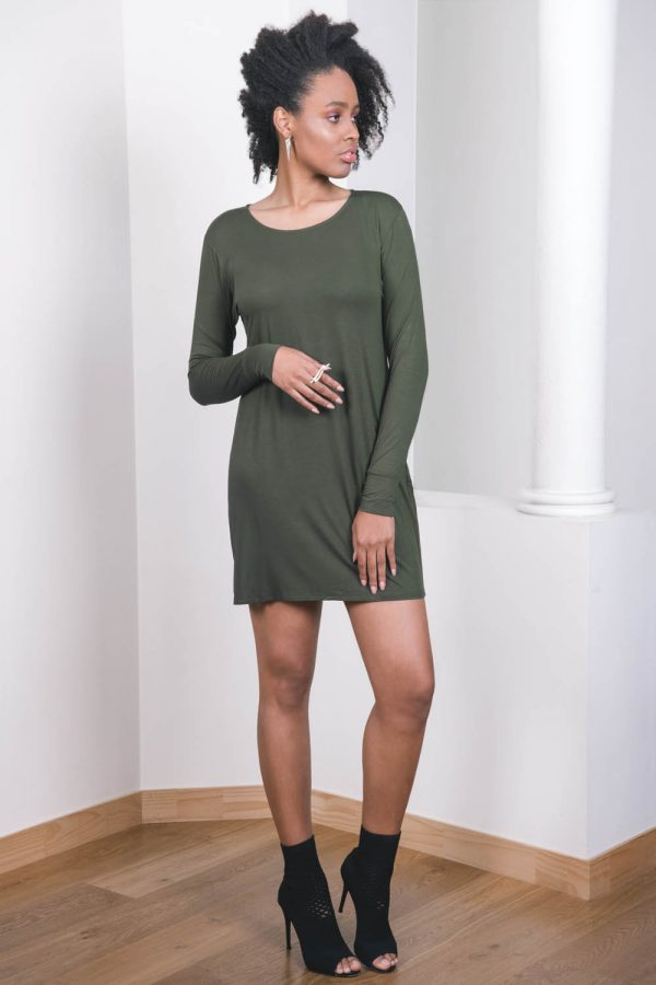 The_Great_Beyond_Bamboo_Dress_Europa_Olive03