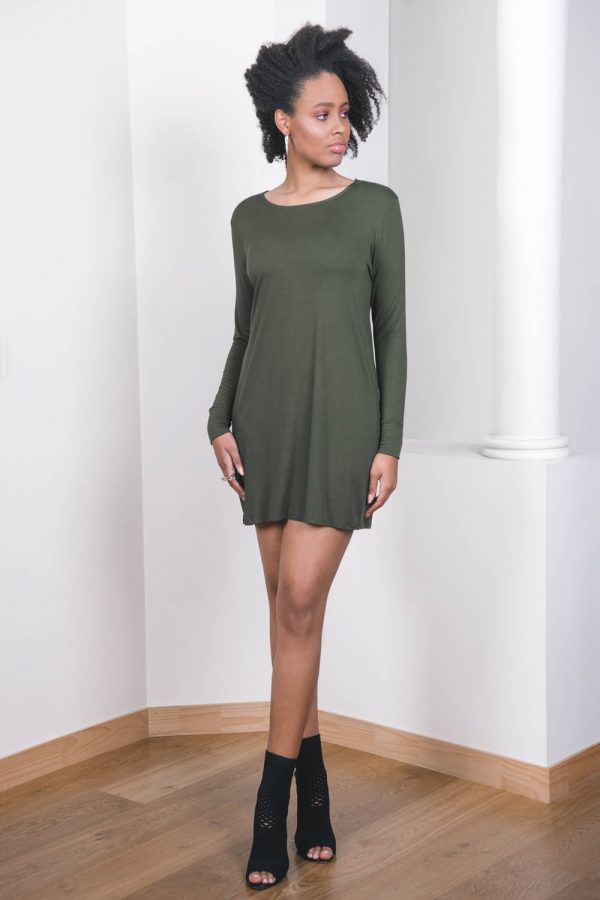 The_Great_Beyond_Bamboo_Dress_Europa_Olive04