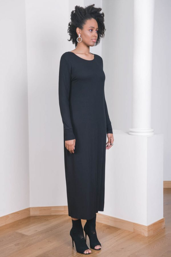 The_Great_Beyond_Bamboo_Maxi_Dress_Europa_Black01