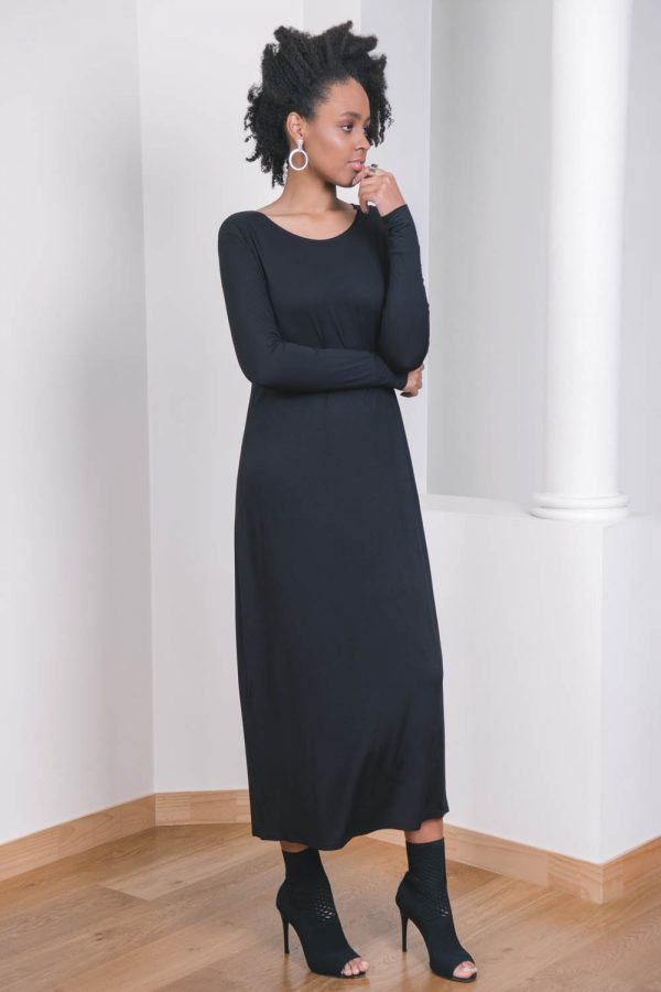 The_Great_Beyond_Bamboo_Maxi_Dress_Europa_Black03