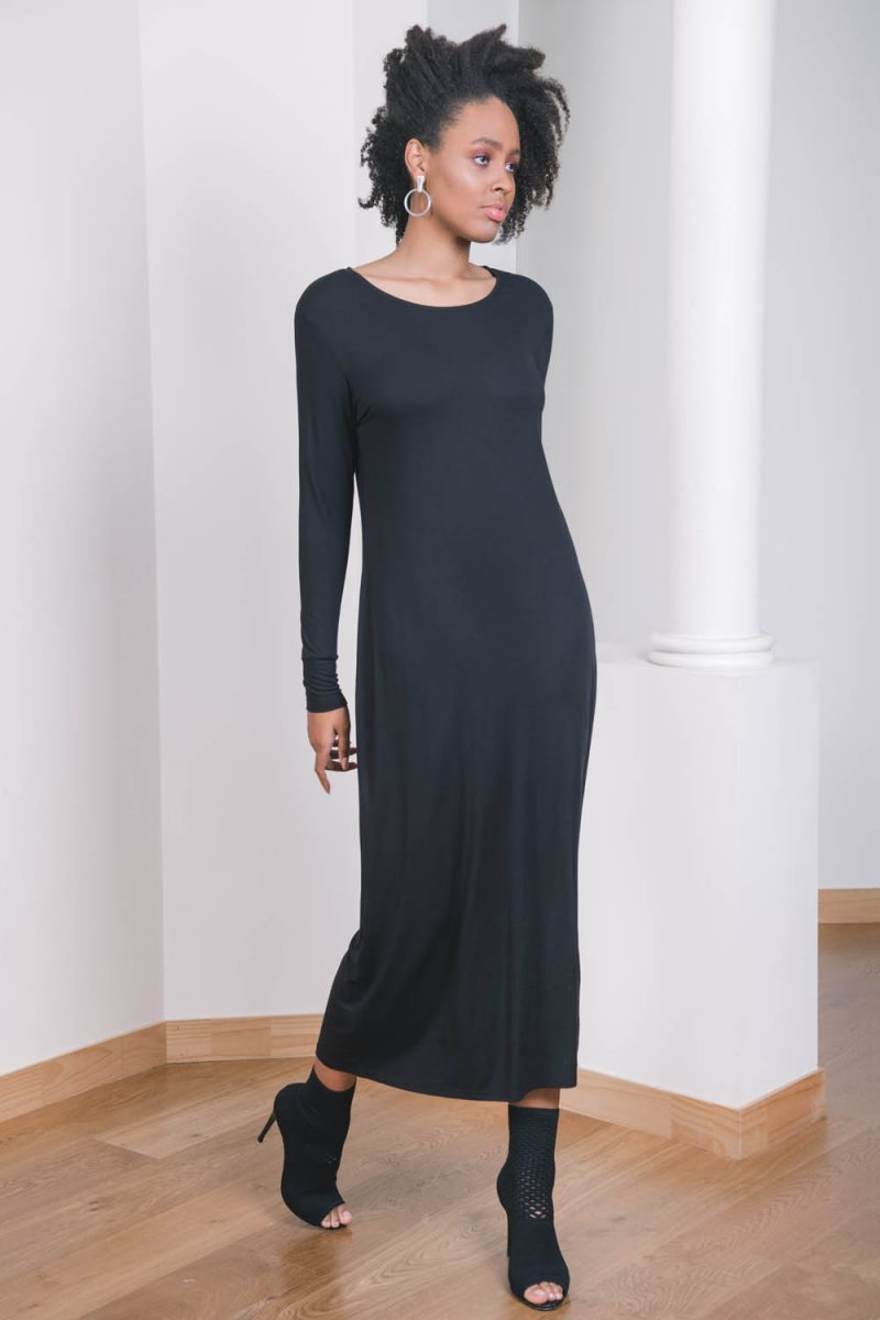The_Great_Beyond_Bamboo_Maxi_Dress_Europa_Black04