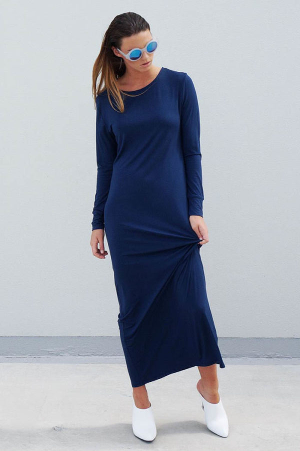 The_Great_Beyond_Bamboo_Maxi_Dress_Europa_Blue02