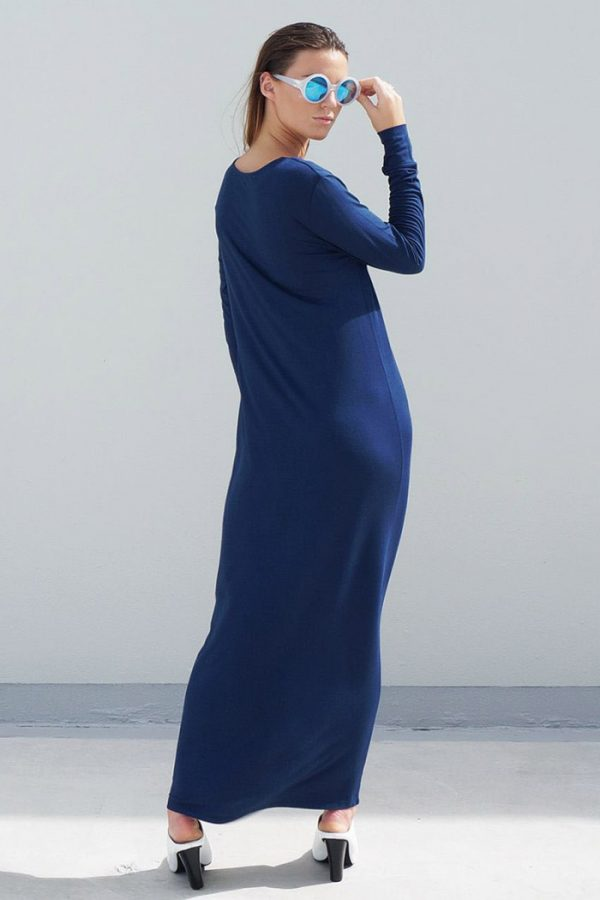 The_Great_Beyond_Bamboo_Maxi_Dress_Europa_Blue04