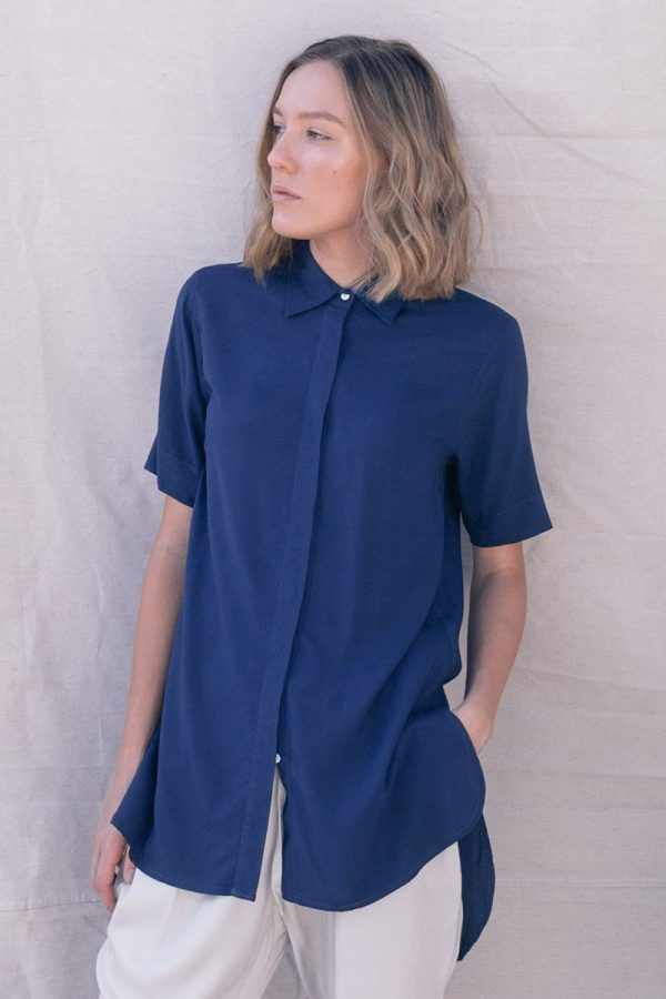 The_Great_Beyond_Bamboo_Shirt_Bianca_Blue04