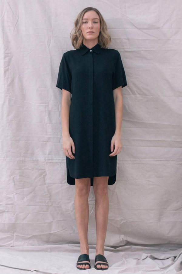 The_Great_Beyond_Bamboo_Shirt_Dress_Bianca_Black01