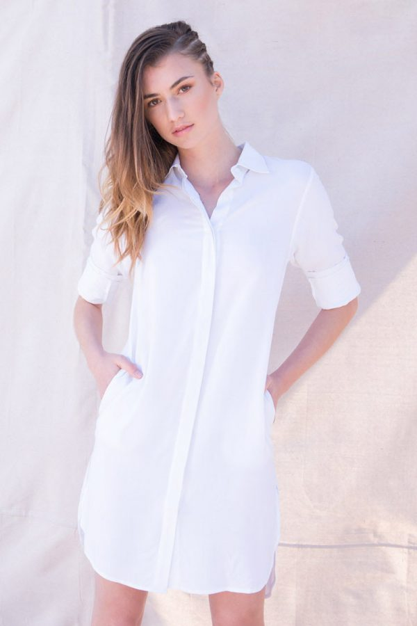 The_Great_Beyond_Bamboo_Shirt_Dress_Helene_White04