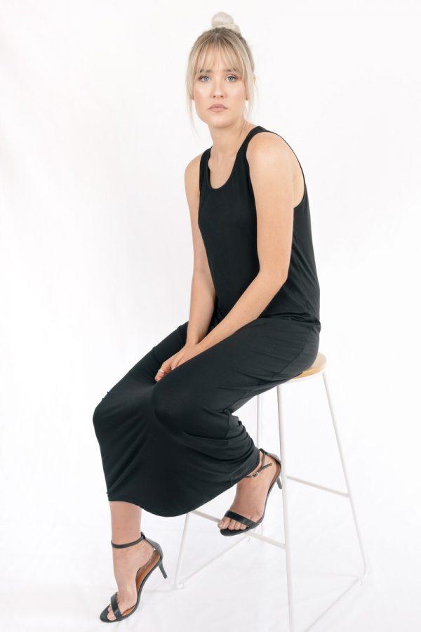 Venus Bamboo Sleeveless Maxi Dress Black The Great Beyond